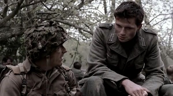 Private Mularkey and German solider on HBO Band of Brothers