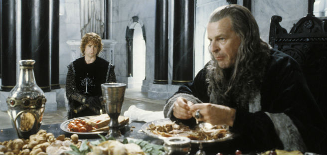 The Return of the King Denethor eating scene
