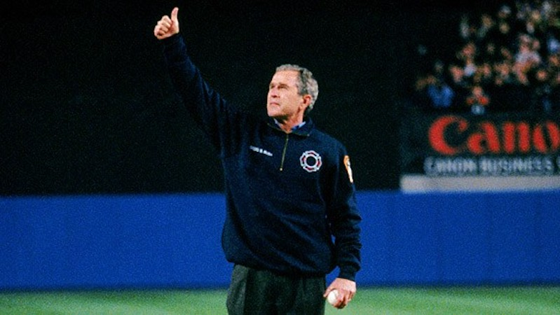 George W. Bush first pitch